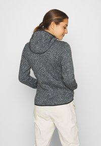 CMP - WOMAN JACKET FIX HOOD - Fleece jacket - nero melange/red fluo - 2