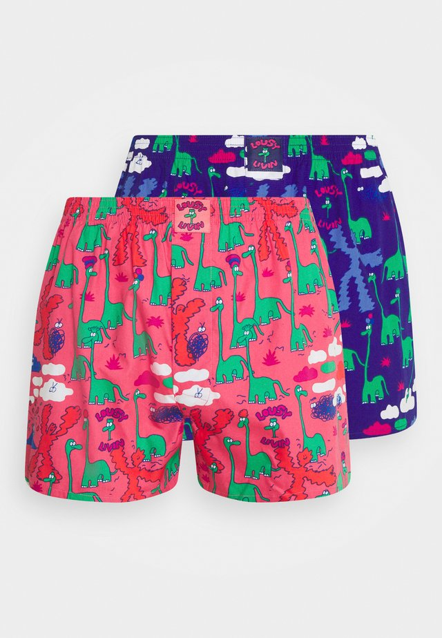 DINOS 2 PACK - Boxer shorts - pink/violett