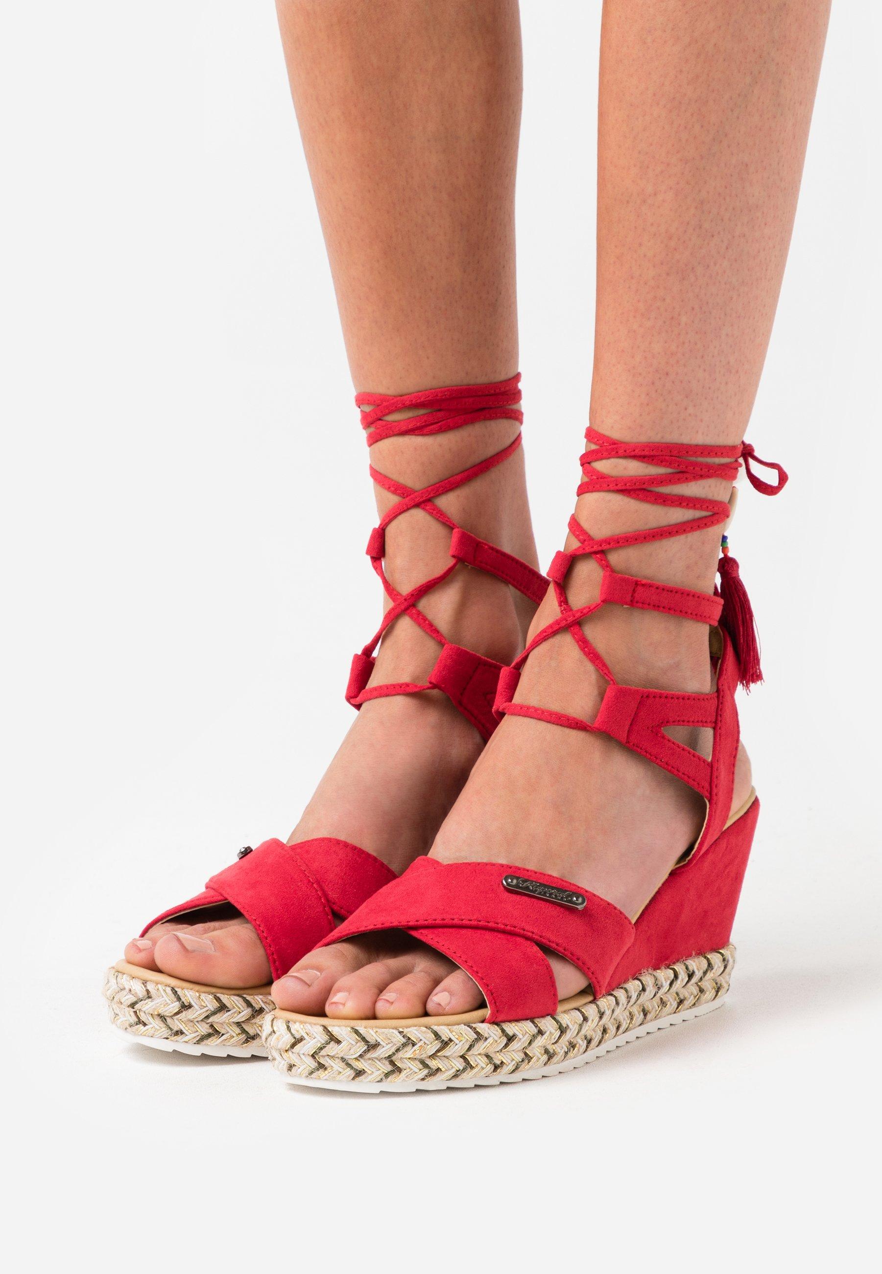 Kaporal TANAYA - Espadrilles - rouge - Sandales & Nu-pieds femme Classique