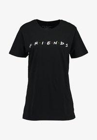 Merchcode - FRIENDS LOGO TEE - Print T-shirt - black - 3
