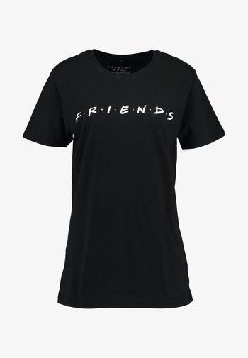 FRIENDS LOGO TEE - Print T-shirt - black