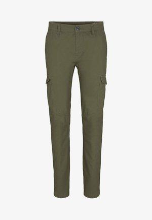 HOSEN - Cargo trousers - dry greyish olive