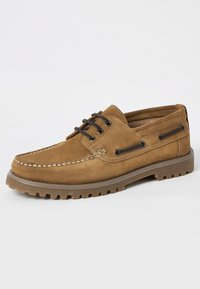 River Island - CHUNKY - Chaussures bateau - brown - 1