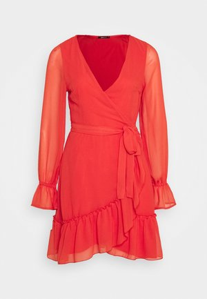 JULIANNA WRAP DRESS - Day dress - red