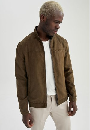 Giacca in similpelle - khaki
