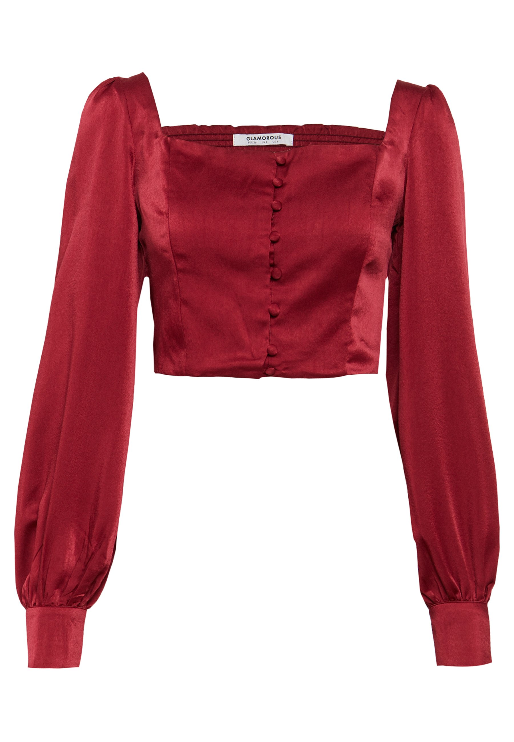 Women SQUARE NECK CROPPED TOP - Blouse