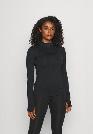 QUALIFIER RUN 1/2 ZIP - Sports shirt - black