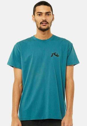 Print T-shirt - blue coral