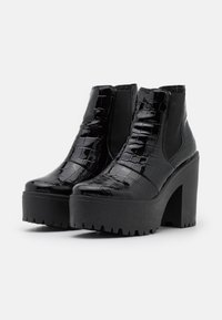Topshop - BRIA CHELSEA UNIT - High heeled ankle boots - black - 2