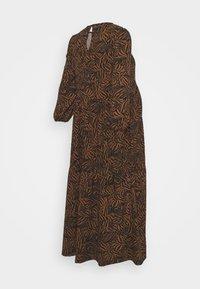 New Look Maternity - MIA ZEBRA SOFT TOUCH MIDI - Jersey dress - brown - 1