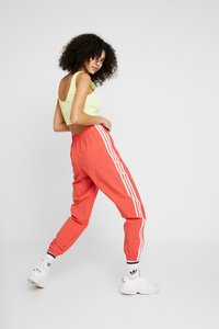 adidas Originals - LOCK UP ADICOLOR NYLON TRACK PANTS - Tracksuit bottoms - trace scarlet/white - 2