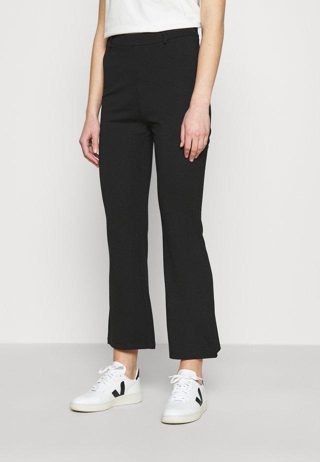 Kick Flare Punto Trousers - Pantaloni - black