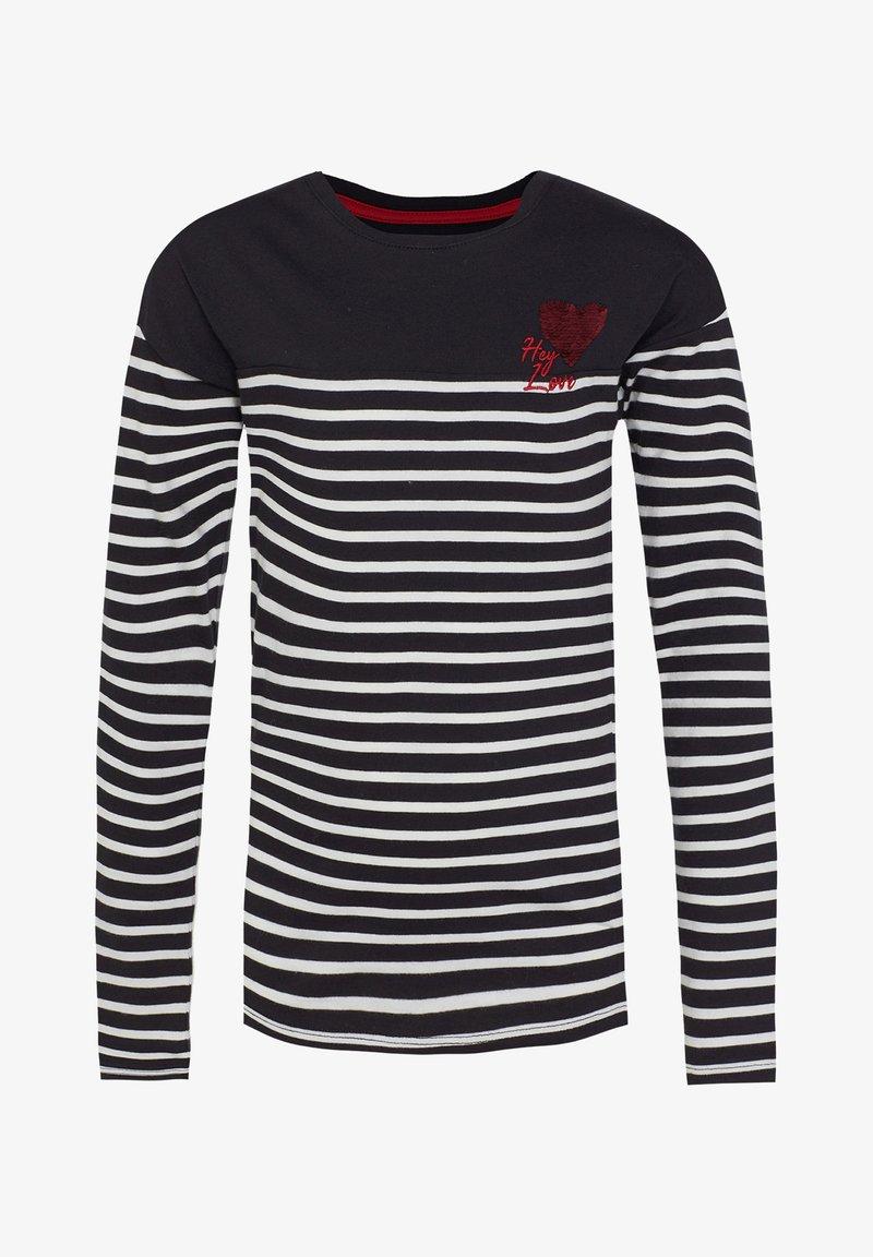 WE Fashion - T-shirt à manches longues - black/white