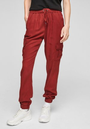 Cargo trousers - rust red