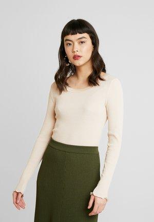 GLORIA - Long sleeved top - creme