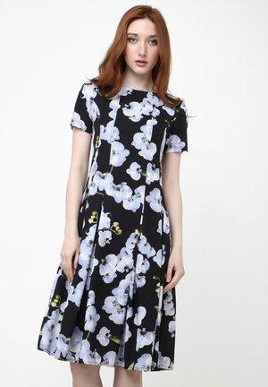 KRISTI - Korte jurk - schwarz  blau