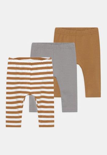NBNLEGGING 3 PACK UNISEX - Leggings - Trousers - bone brown
