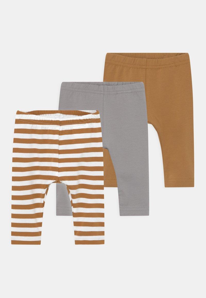 Name it - NBNLEGGING 3 PACK UNISEX - Leggings - Trousers - bone brown