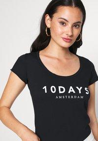 10DAYS - THE TEE - Print T-shirt - black - 4