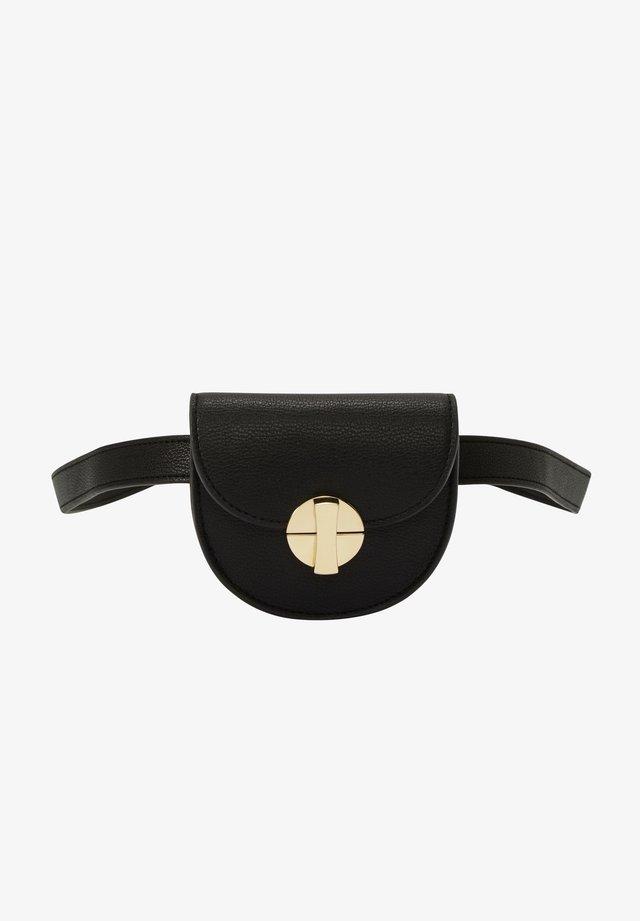 MIT GOLDGLÄNZENDEN DETAILS - Bum bag - black