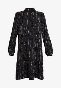 Esprit - TIERED HEM DRESS - Skjortklänning - black - 5