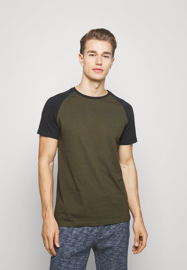 Pier One T-shirt basic - olive/oliwkowy Odzież Męska NZBW