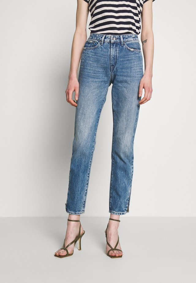 HEIDI ZIP FLORIDA - Straight leg jeans - blue