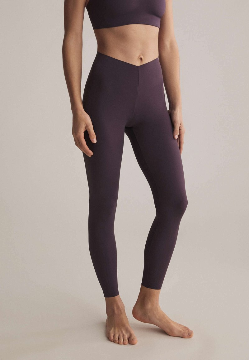 OYSHO - Leggings - dark purple