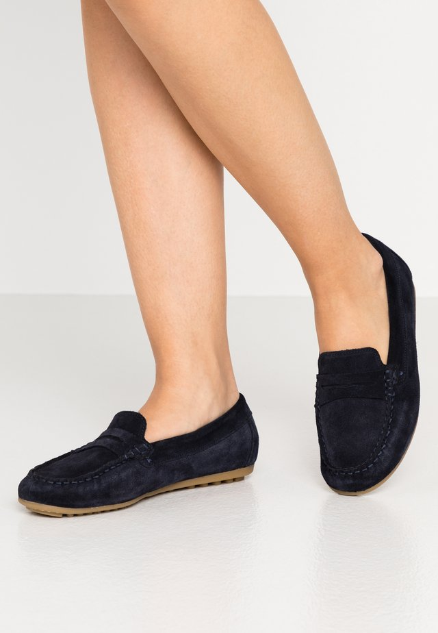 LEATHER MOCCASINS - Mocassins - blue