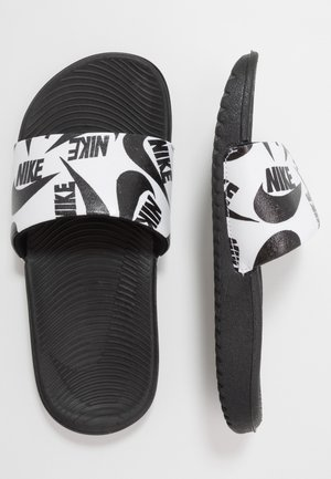 KAWA SLIDE  - Chanclas de baño - white/black
