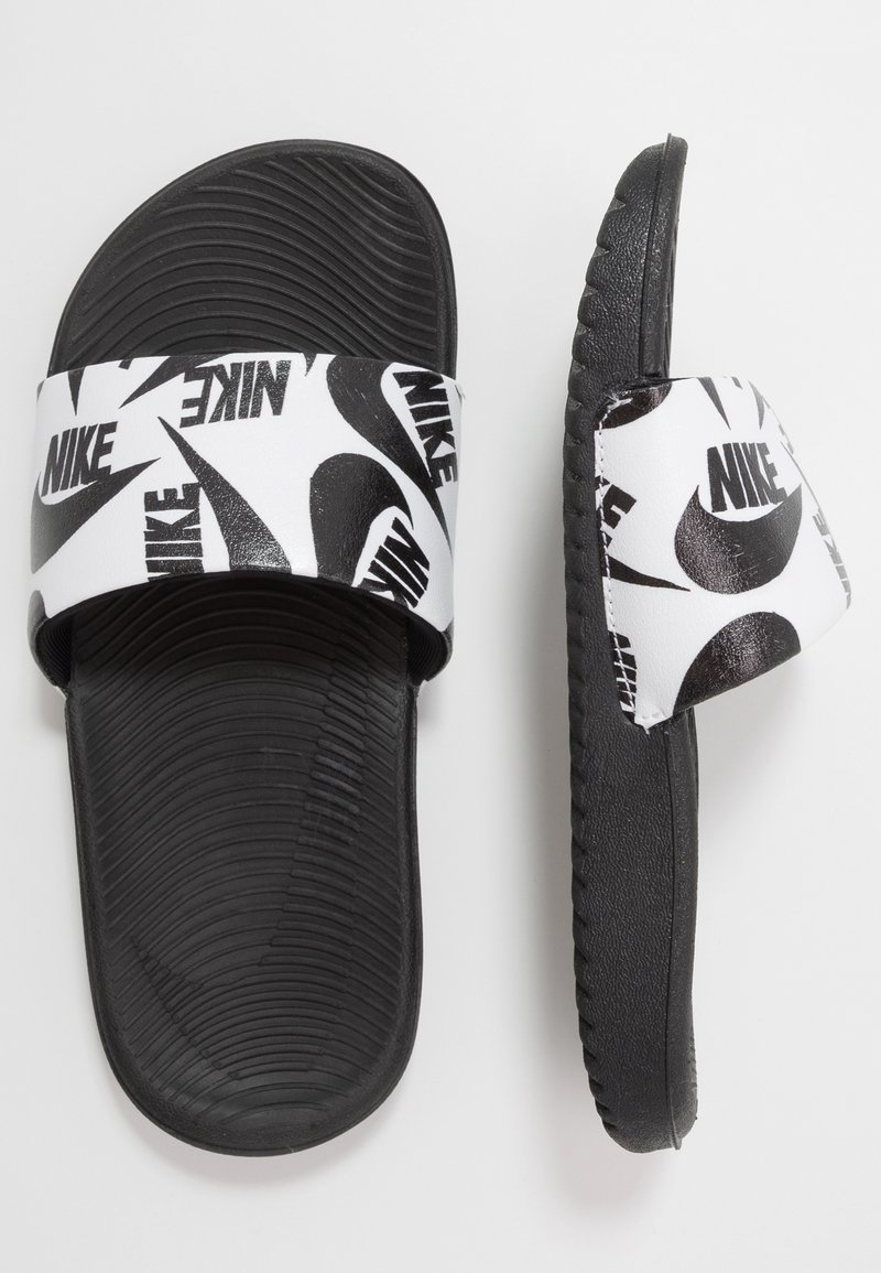 Nike Performance - KAWA SLIDE  - Sandały kąpielowe - white/black