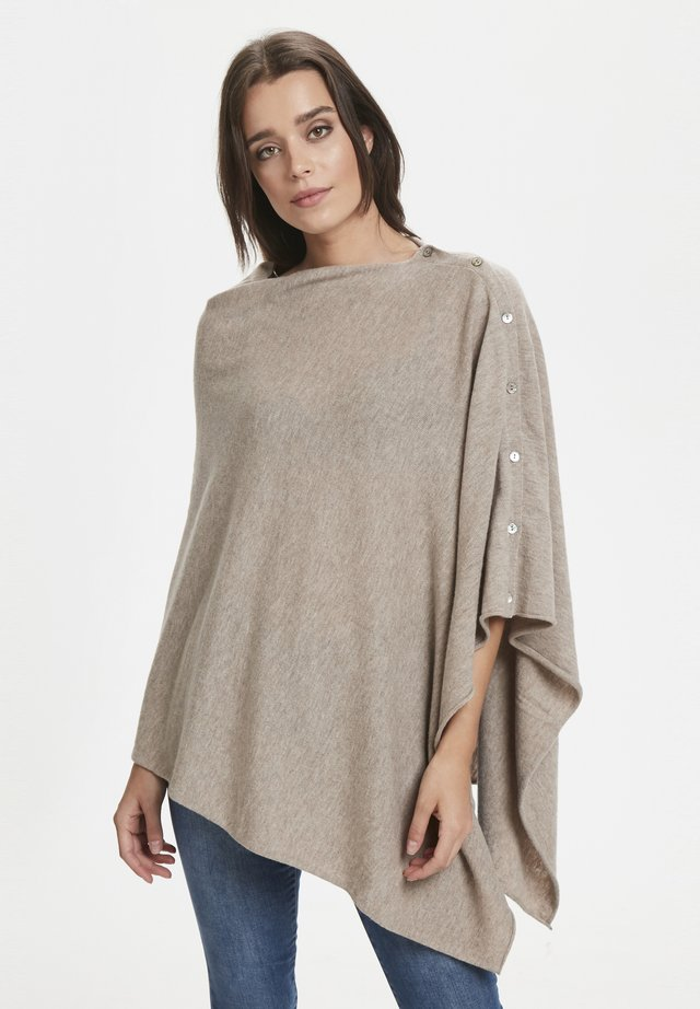 RIANNA PO - Cape - light camel melange