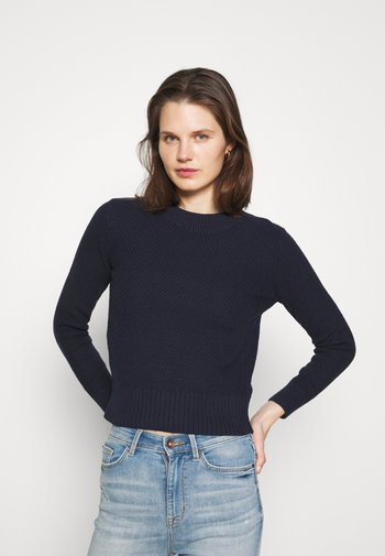 STITCH - Stickad tröja - dark blue
