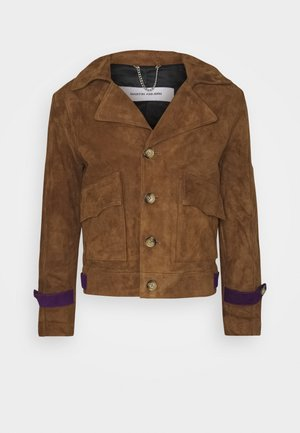 LUKE JACKET - Leather jacket - brown