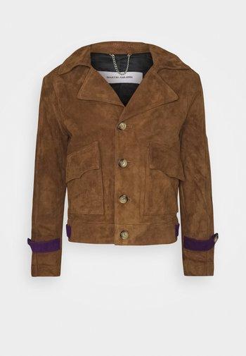 LUKE JACKET - Kožená bunda - brown