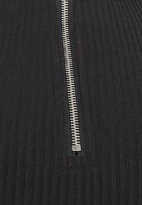 Glamorous Curve - LONG SLEEVE ZIP UP - Long sleeved top - black - 2