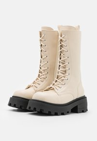 Topshop - KANA LACE UP BOOT - Lace-up boots - offwhite - 2