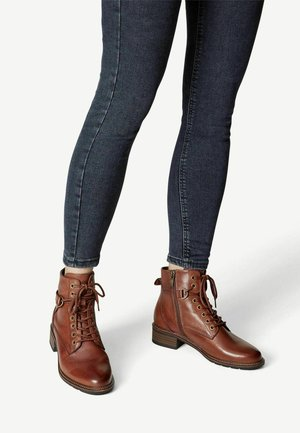 Ankle boots - cognac leather