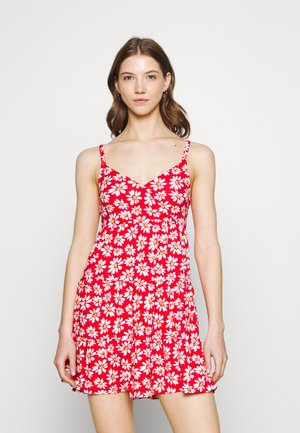 BARE DRESS - Jersey dress - red daisy