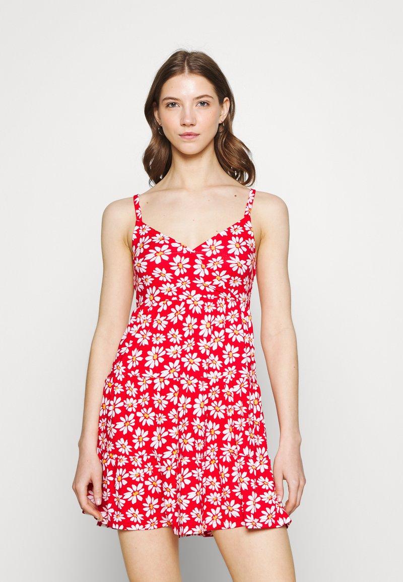 Hollister Co. - BARE DRESS - Robe en jersey - red daisy