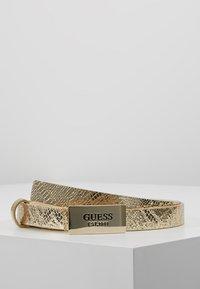 Guess - HIGHLIGHT ADJUSTABLE BELT - Belt - gold-coloured - 0