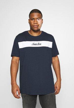 JORNEWCOARSE TEE CREW NECK - Print T-shirt - navy blazer