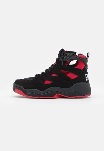 IMAGE - High-top trainers - black/red