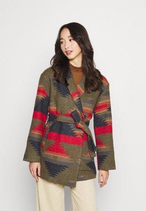 ONLINDIE AZTEC BELT - Short coat - night skyr/ed/green/light brown