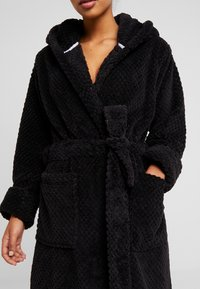 Cotton On Body - HOODED LUXE PLUSH GOWN - Morgonrock - black - 4