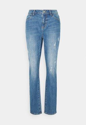 NMOLIVIA  - Jeans straight leg - medium blue denim
