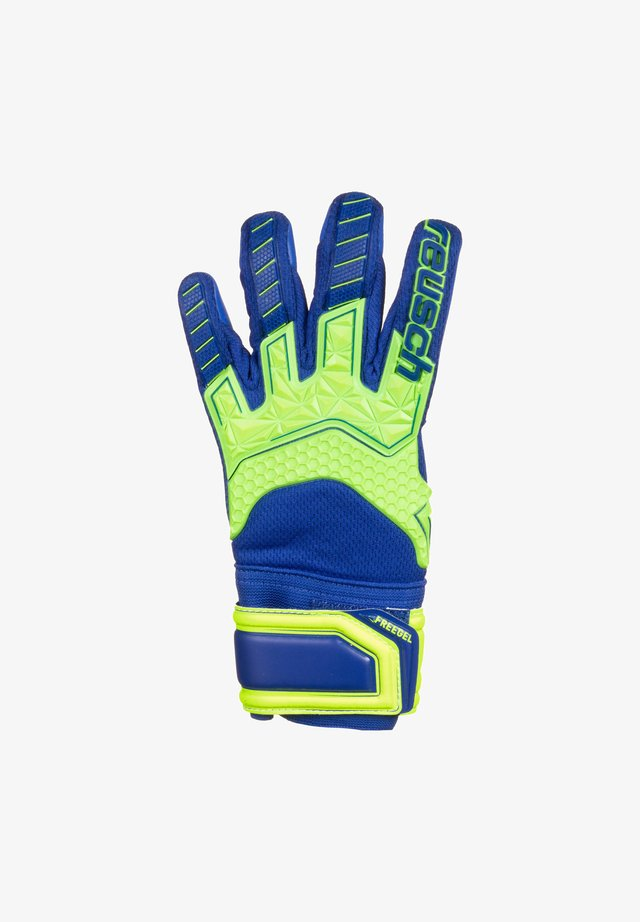 Guanti da portiere - safety yellow / deep blue
