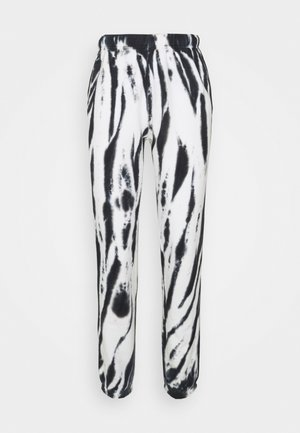 BOYFRIEND  - Teplákové kalhoty - black/white tie dye