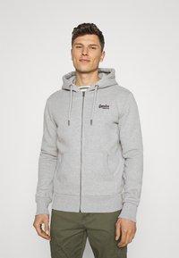 Superdry - CLASSIC ZIPHOOD - Zip-up hoodie - grey marl - 0