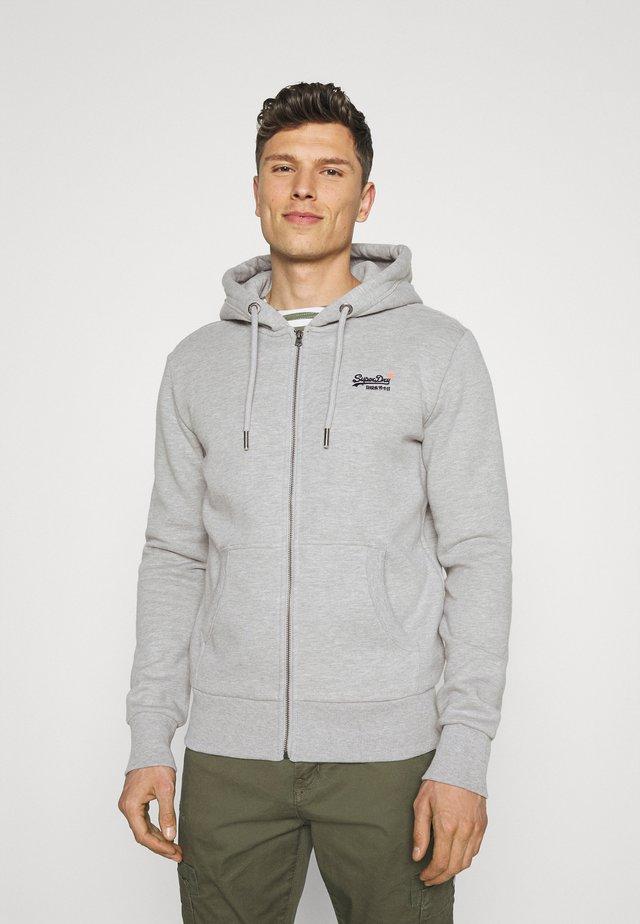 CLASSIC ZIPHOOD - veste en sweat zippée - grey marl
